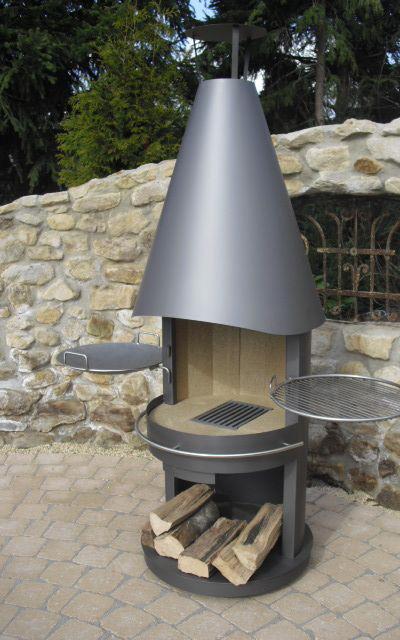 gartenkamin und grillkamin aus edelstahl. Black Bedroom Furniture Sets. Home Design Ideas